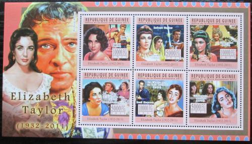 Poštovní známky Guinea 2011 Elizabeth Taylor, hereèka Mi# Mi# 8374-79 Kat 18€