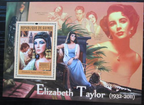 Poštovní známka Guinea 2011 Elizabeth Taylor, hereèka Mi# Mi# Block 1954 Kat 16€