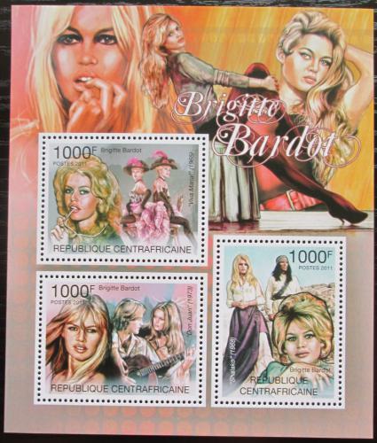 Poštovní známky SAR 2011 Brigitte Bardot, hereèka Mi# Mi# 3096-98 Kat 12€
