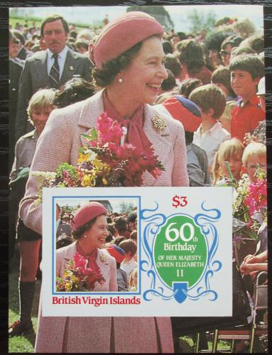 Poštovní známka Panenské ostrovy 1986 Královna Alžbìta II. Mi# Mi# Block 27 Kat 6€