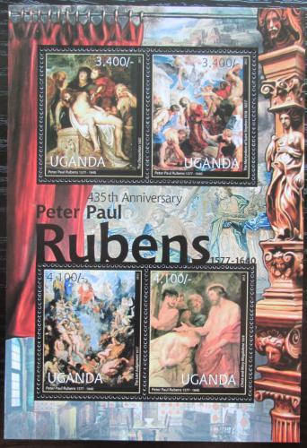 Poštovní známky Uganda 2012 Umìní, Peter Paul Rubens Mi# Mi# 2839-42 Kat 13€