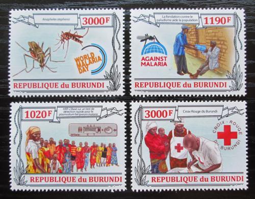 Poštovní známky Burundi 2013 Boj proti malárii Mi# 3158-61 Kat 10€