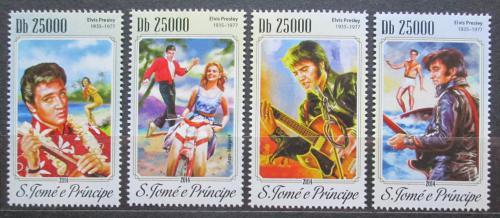 Poštovní známky Svatý Tomáš 2014 Elvis Presley Mi# 5945-48 Kat 10€