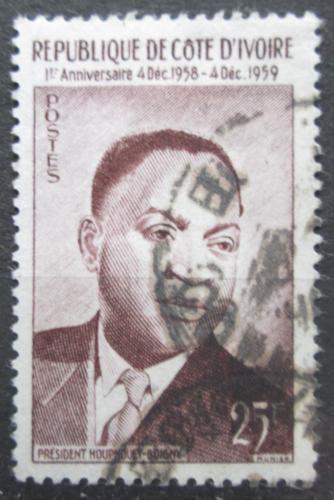 Poštovní známka Pobøeží Slonoviny 1959 Prezident Félix Houphouët-Boigny Mi# 210