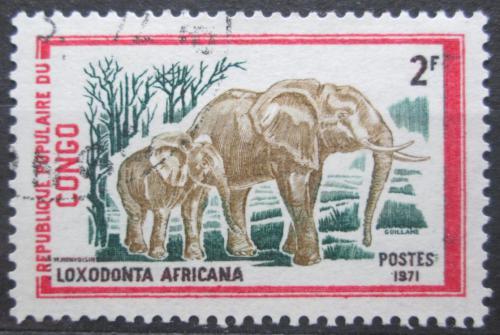 Poštovní známka Kongo 1972 Slon africký Mi# 342