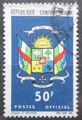 Poštovní známka SAR 1965 Státní znak, úøední Mi# 7