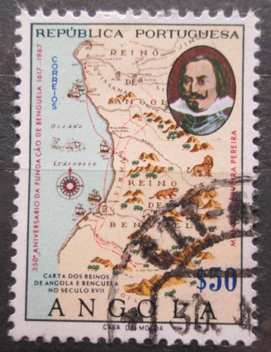 Poštovní známka Angola 1967 Mapa Mi# 542