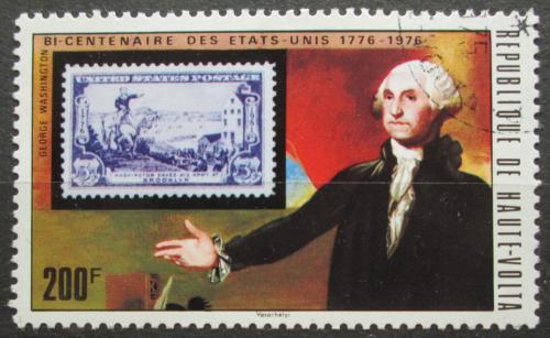 Poštovní známka Horní Volta 1975 George Washington Mi# 555