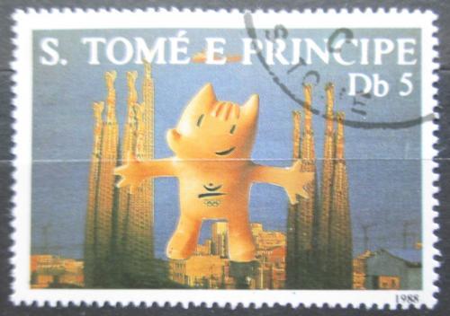 Poštovní známka Svatý Tomáš 1988 LOH Soul, maskot Cobi Mi# 1077