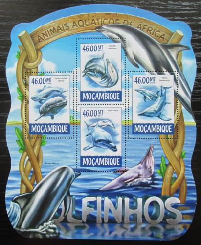 Poštovní známky Mosambik 2015 Delfíni Mi# 7739-42 Kat 10€