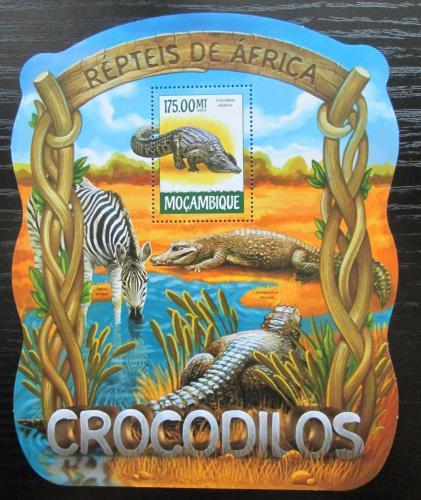 Poštovní známka Mosambik 2015 Krokodýli Mi# Block 1016 Kat 10€