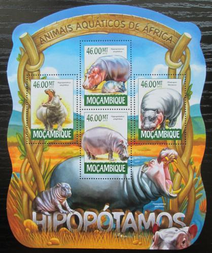 Poštovní známky Mosambik 2015 Hroši Mi# 7944-47 Kat 10€