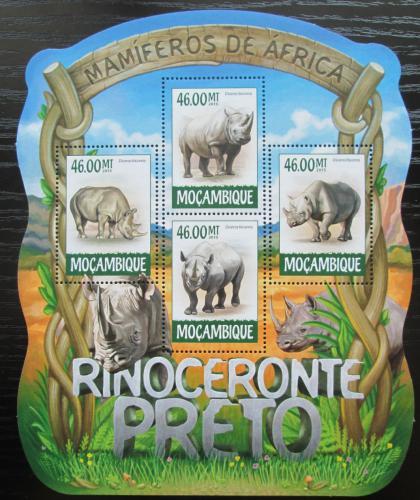 Poštovní známky Mosambik 2015 Nosorožci Mi# 7964-67 Kat 10€