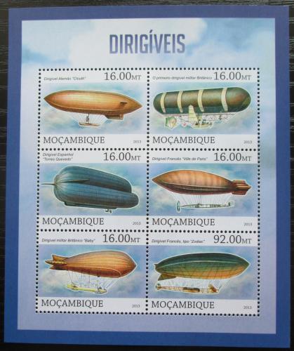 Poštovní známky Mosambik 2013 Vzducholodì Mi# 6574-79 Kat 10€