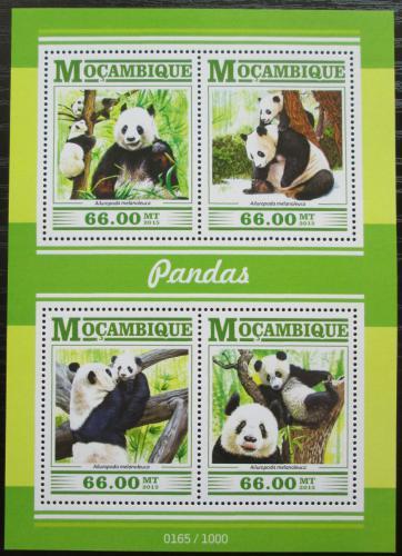 Poštovní známky Mosambik 2015 Pandy Mi# 8009-12 Kat 15€