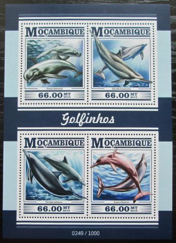 Poštovní známky Mosambik 2015 Delfíni Mi# 8174-77 Kat 15€