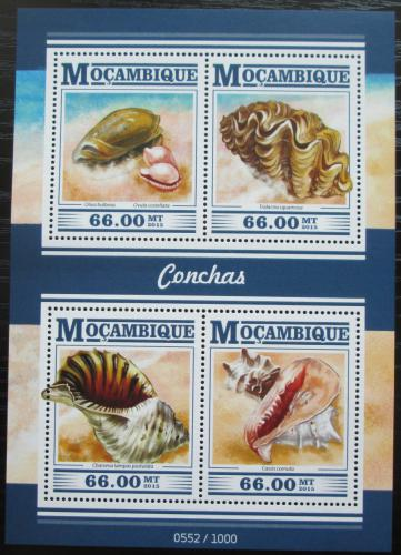 Poštovní známky Mosambik 2015 Mušle Mi# 7999-8002 Kat 15€