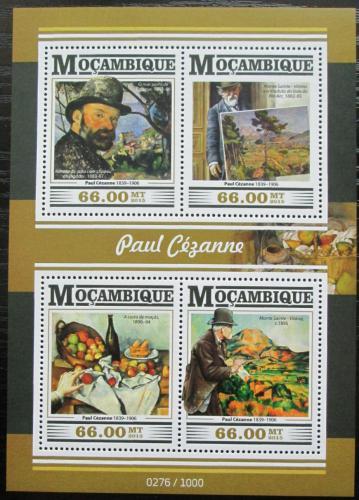 Poštovní známky Mosambik 2015 Umìní, Paul Cézanne Mi# 8194-97 Kat 15€