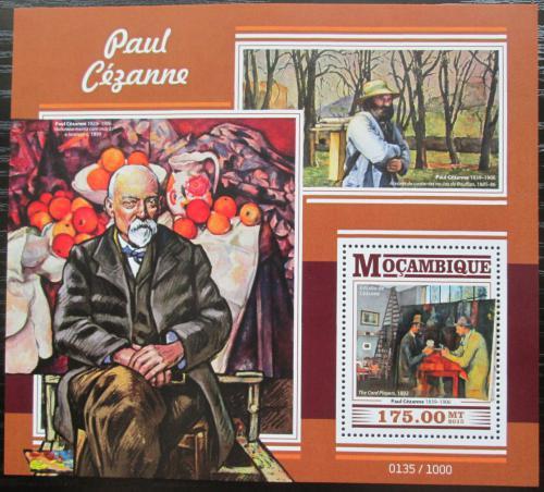 Poštovní známka Mosambik 2015 Umìní, Paul Cézanne Mi# Block 1079 Kat 10€