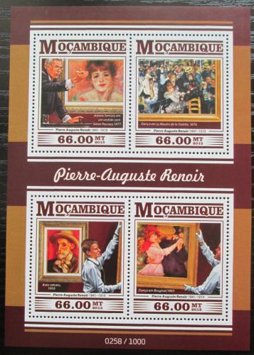 Poštovní známky Mosambik 2015 Umìní, Pierre-Auguste Renoir Mi# 8199-8202 Kat 15€