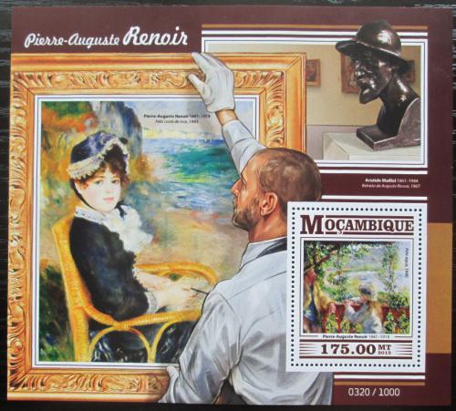 Poštovní známka Mosambik 2015 Umìní, Pierre-Auguste Renoir Mi# Block 1080 Kat 10€