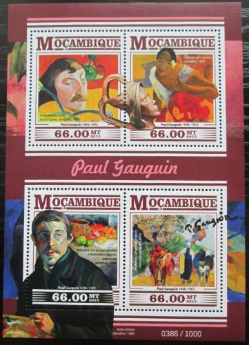 Poštovní známky Mosambik 2015 Umìní, Paul Gauguin Mi# 8209-12 Kat 15€