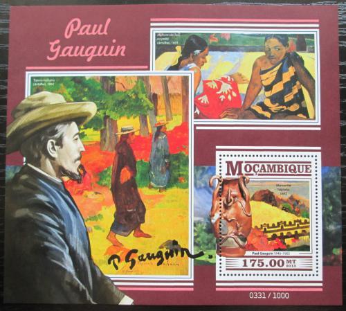 Poštovní známka Mosambik 2015 Umìní, Paul Gauguin Mi# Block 1082 Kat 10€