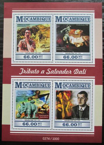 Poštovní známky Mosambik 2015 Umìní, Salvador Dalí Mi# 8229-32 Kat 15€