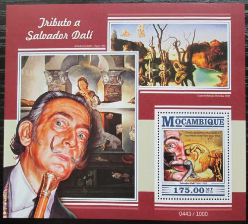 Poštovní známka Mosambik 2015 Umìní, Salvador Dalí Mi# Block 1086 Kat 10€