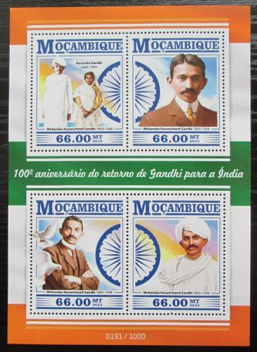 Poštovní známky Mosambik 2015 Mahátma Gándhí Mi# 8094-97 Kat 15€