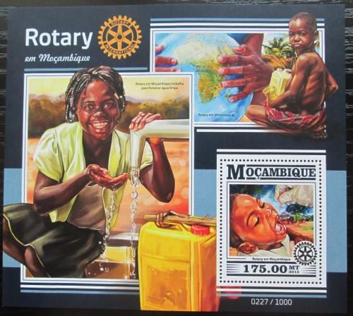 Poštovní známka Mosambik 2015 Rotary International Mi# Block 1088 Kat 10€
