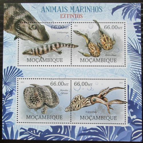 Poštovní známky Mosambik 2012 Vyhynulá moøská fauna Mi# 5831-34 Kat 15€