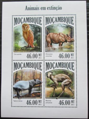 Poštovní známky Mosambik 2013 Vyhynulá fauna Mi# 6966-69 Kat 11€