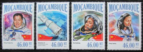 Poštovní známky Mosambik 2013 Vesmírný projekt Shenzhou 10 Mi# 6927-30 Kat 11€