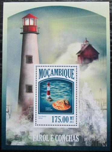 Poštovní známka Mosambik 2013 Majáky a mušle Mi# Block 799 Kat 10€