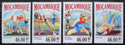 Poštovní známky Mosambik 2013 MS v lehké atletice Mi# 7077-80 Kat 11€