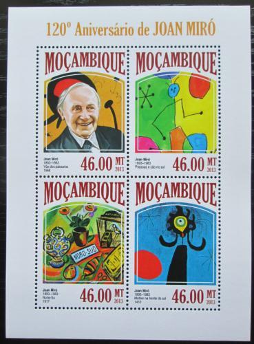 Poštovní známky Mosambik 2013 Umìní, Joan Miró Mi# 6862-65 Kat 11€