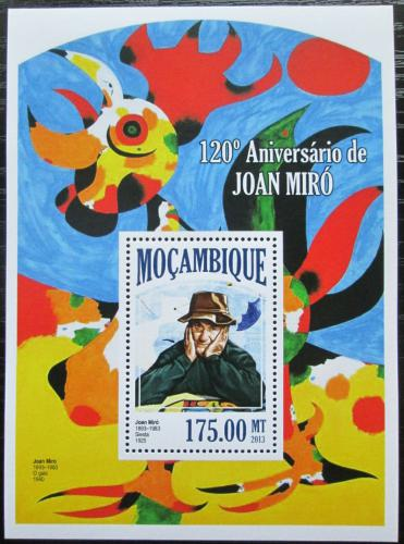 Poštovní známka Mosambik 2013 Umìní, Joan Miró Mi# Block 812 Kat 10€