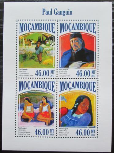 Poštovní známky Mosambik 2013 Umìní, Paul Gauguin Mi# 7017-20 Kat 11€