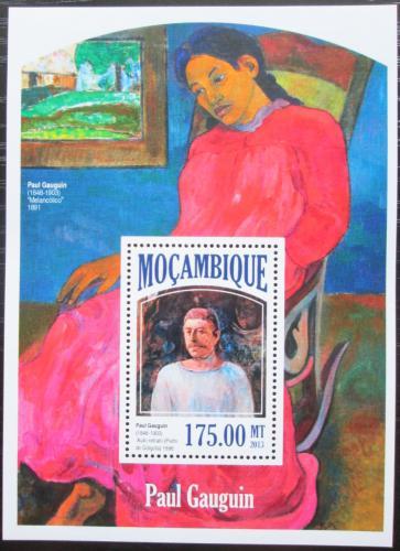 Poštovní známka Mosambik 2013 Umìní, Paul Gauguin Mi# Block 843 Kat 10€