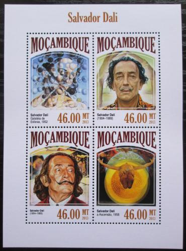 Poštovní známky Mosambik 2013 Umìní, Salvador Dalí Mi# 7057-60 Kat 11€