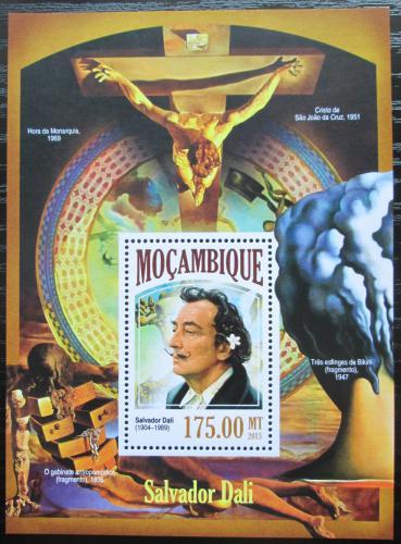 Poštovní známka Mosambik 2013 Umìní, Salvador Dalí Mi# Block 851 Kat 10€