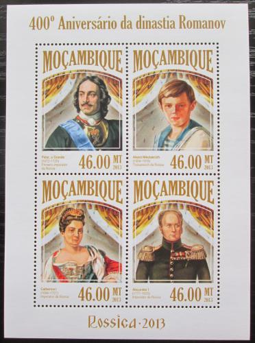 Poštovní známky Mosambik 2013 Dynastie Romanovcù Mi# 6837-40 Kat 11€