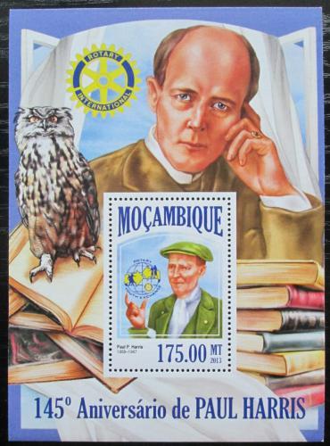 Poštovní známka Mosambik 2013 Paul Harris, Rotary Intl. Mi# Block 811 Kat 10€