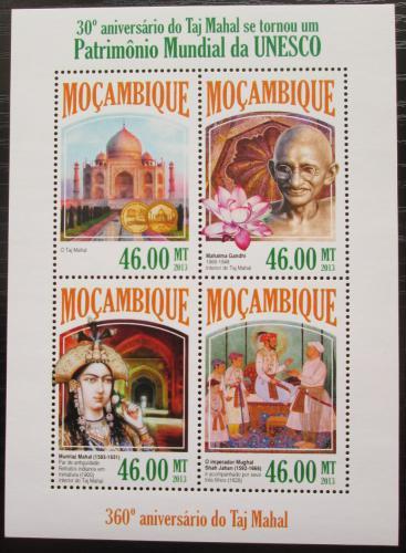 Poštovní známky Mosambik 2013 Tádž Mahal na seznamu UNESCO Mi# 7047-50 Kat 11€