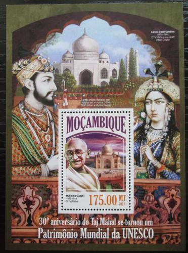 Poštovní známka Mosambik 2013 Tádž Mahal na seznamu UNESCO Mi# Block 849 Kat 10€