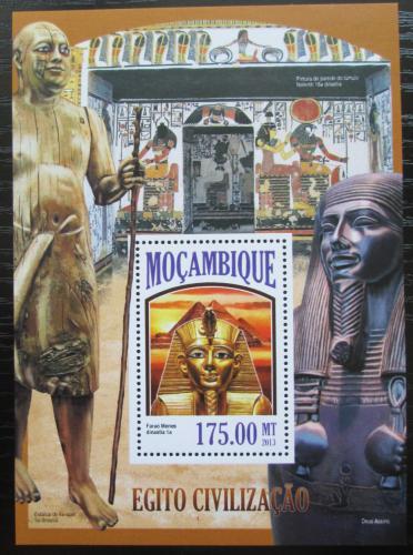 Poštovní známka Mosambik 2013 Egyptská civilizace Mi# Block 819 Kat 10€