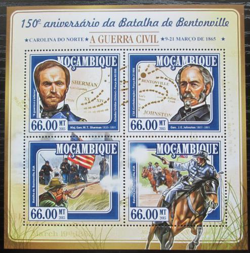 Poštovní známky Mosambik 2015 Bitva o Bentonville Mi# 7740-43 Kat 15€