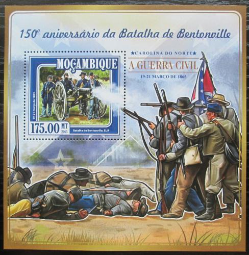 Poštovní známka Mosambik 2015 Bitva o Bentonville Mi# Block 988 Kat 10€