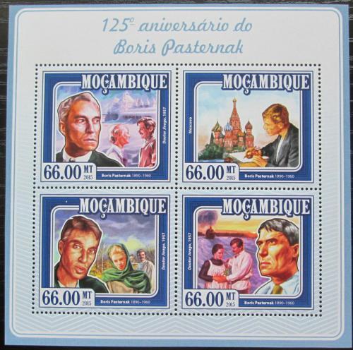 Poštovní známky Mosambik 2015 Boris Pasternak, spisovatel Mi# 7750-53 Kat 15€